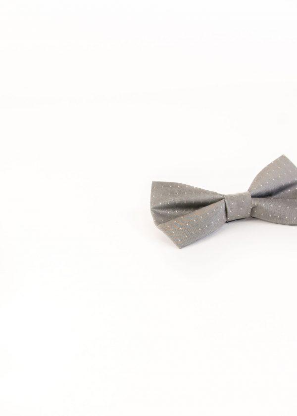 پاپیون طرح دار ابریشمی مردانه دست ساز Lauren Vickers-طوسی BT1040