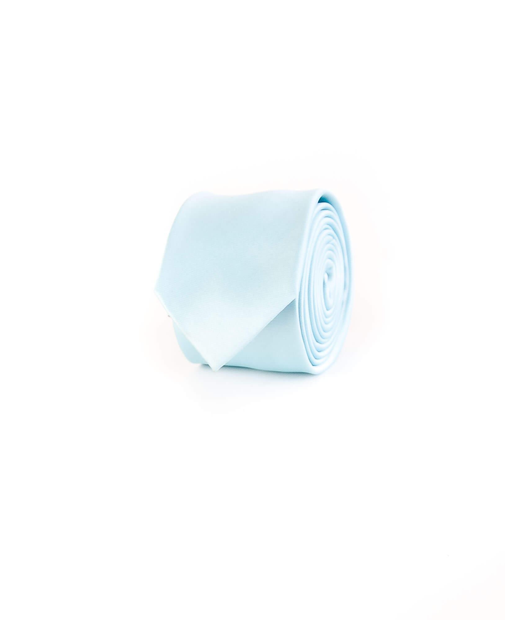 کراوات ساده مردانه-آبی T1011