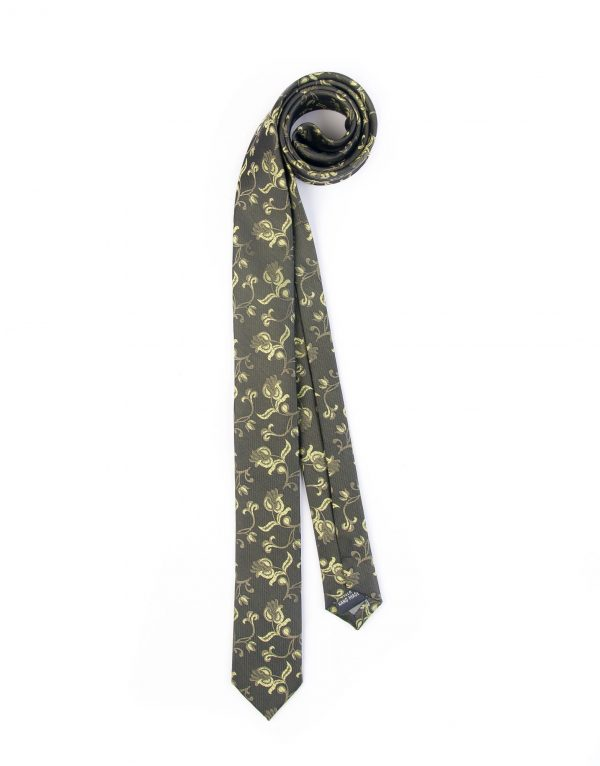کراوات ابریشمی طرح دار مردانه Rossi-سبز