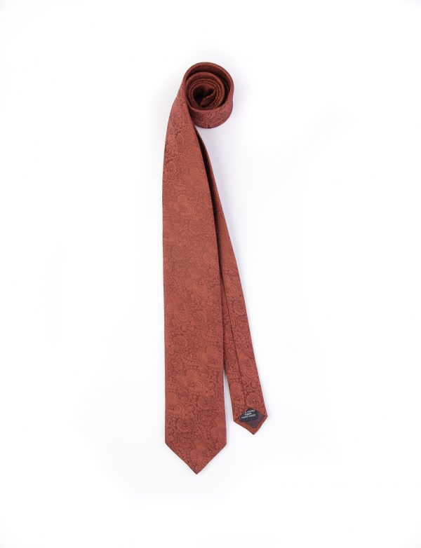 کراوات ابریشمی طرح دار مردانه Rossi-قرمز