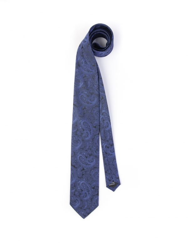 کراوات ابریشمی طرح دار مردانه Rossi-بته جقه T1022