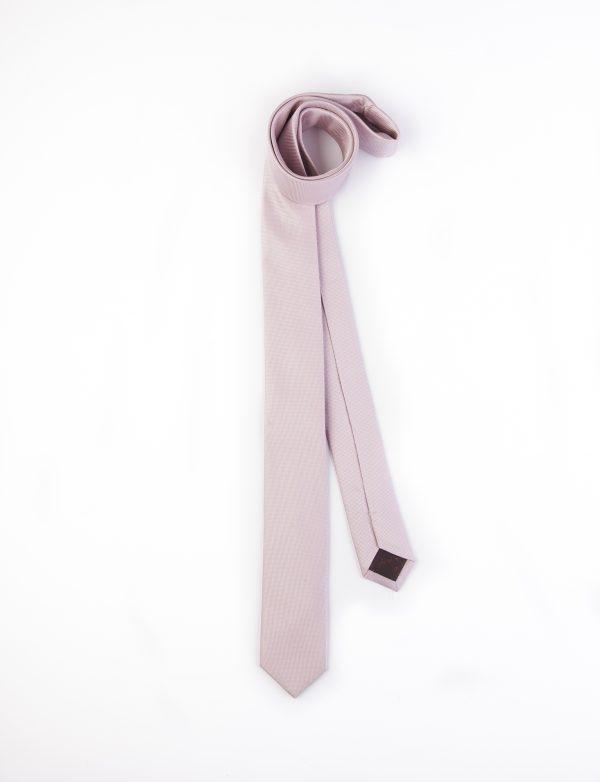 کراوات ساده مردانه-صورتی T1029