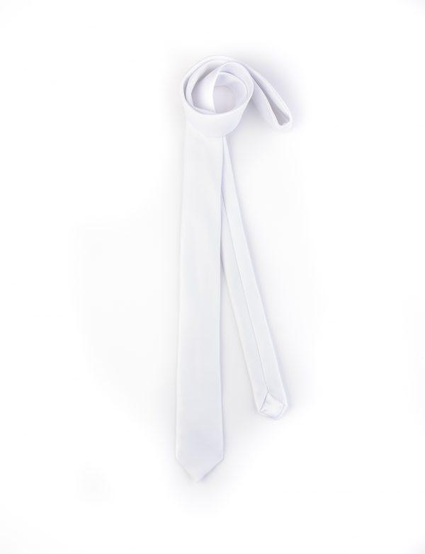 کراوات ساده مردانه-سفید