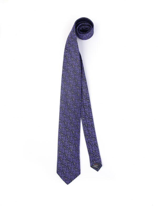 کراوات ابریشمی طرح دار مردانه Rossi کد T1035