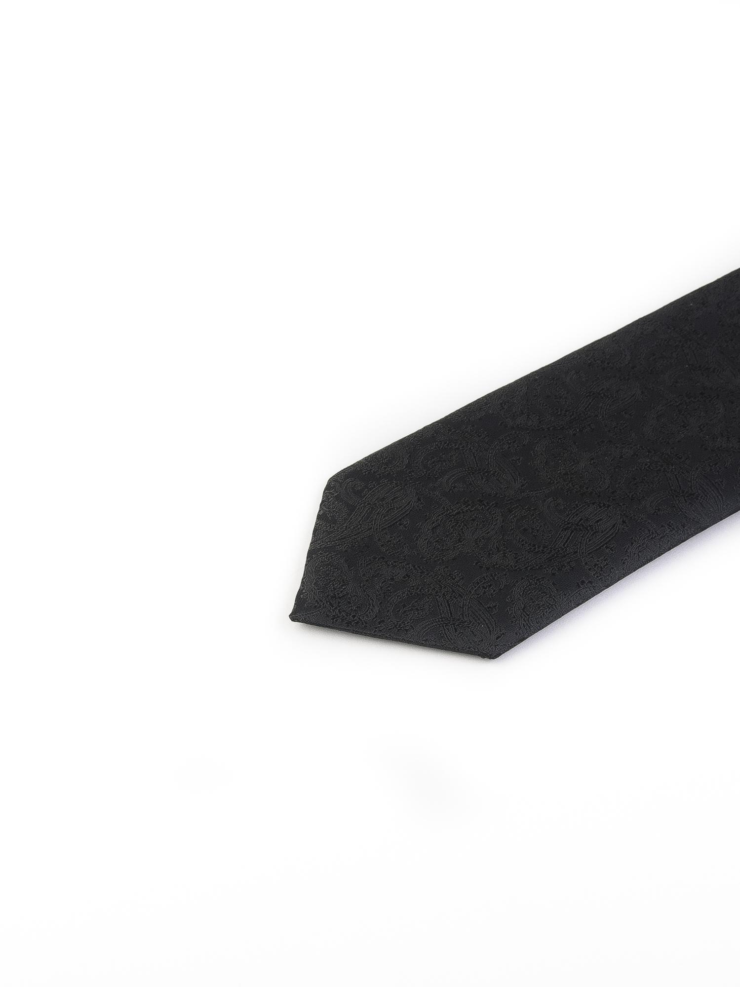 کراوات ابریشمی طرح دار مردانه Rossi-بته جقه مشکی T1009