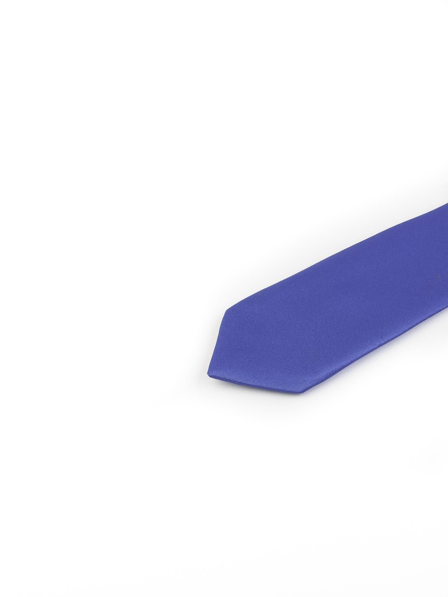 کروات باریک ساده مردانه-آبی T1010