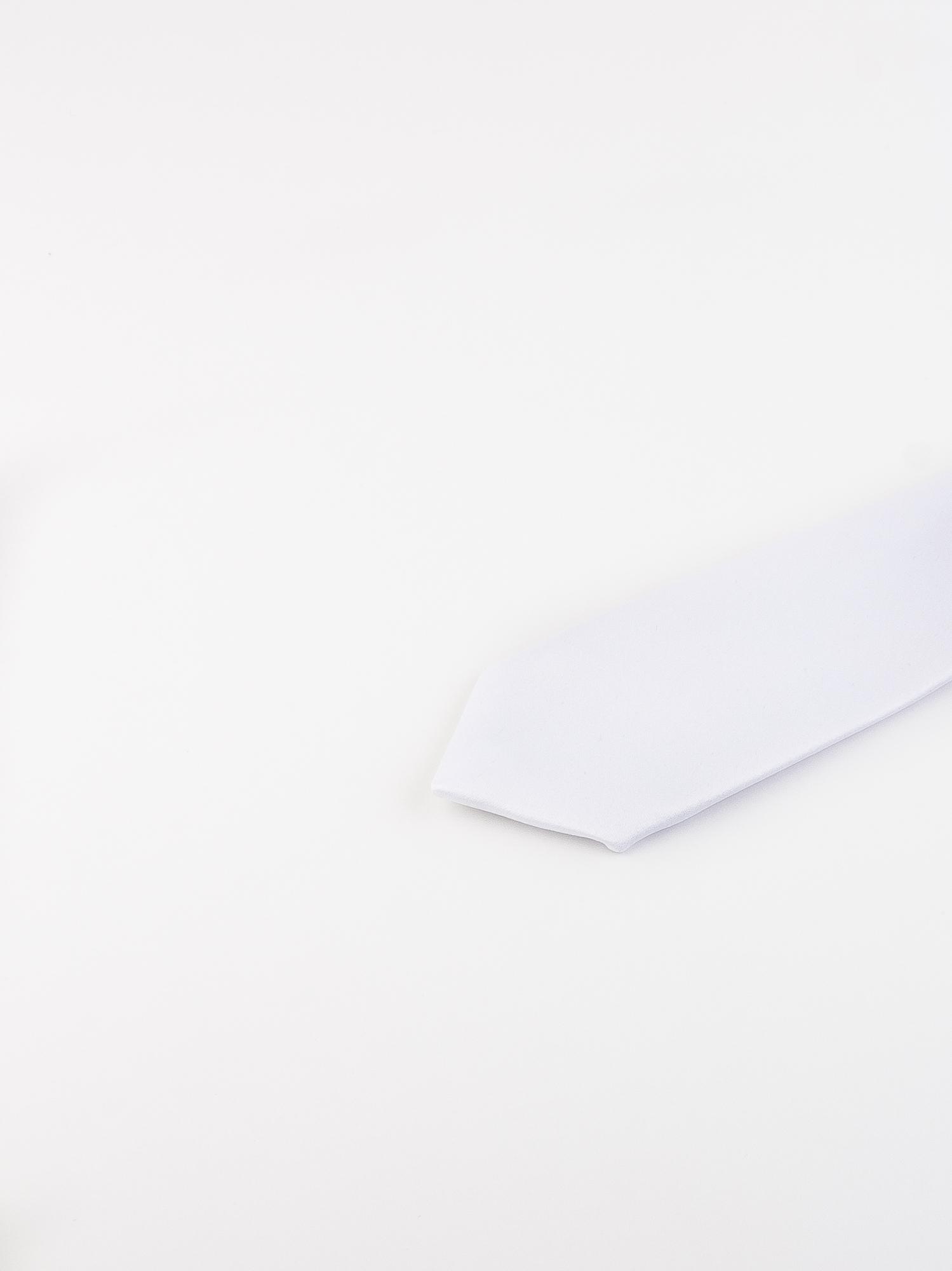 کراوات باریک ساده مردانه-سفید T1016