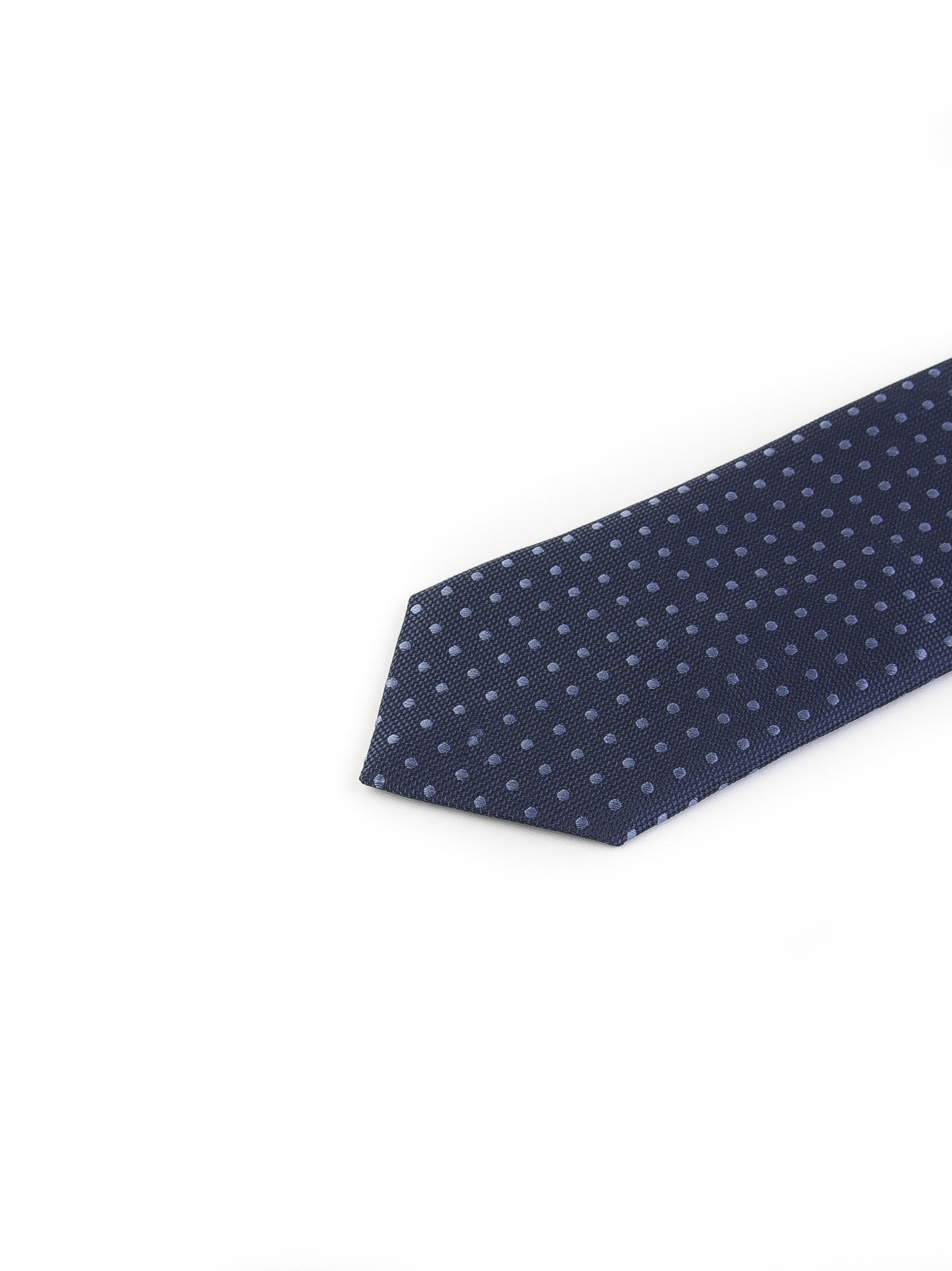 کراوات ابریشمی طرح دار مردانه Gianfranco -سورمه ای T1026