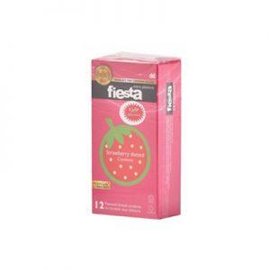 کاندوم خاردار فیستا 12 عددی مدل Strawberry Dotted کد CO1169