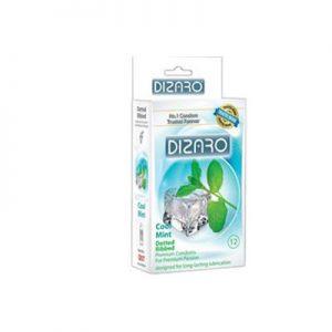 کاندوم دیزارو مدلDOTTED RIBBED COOL MINT- کدco1152