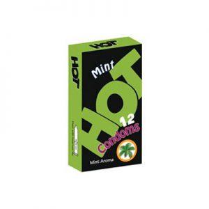 کاندوم هات دوازده عددی مدلMint Aroma- کدco1196