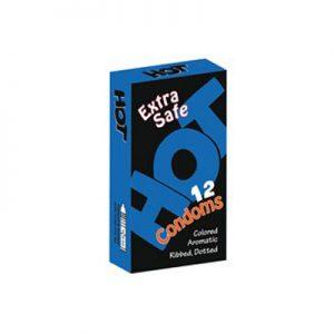 کاندوم هات دوازده عددی مدلextera safe- کدco1194