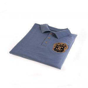 تی شرت یقه دار مردانه طرح PS1061-CHANEL