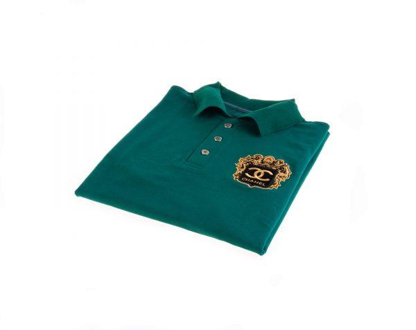 تی شرت یقه دار مردانه طرح PS1059-CHANEL