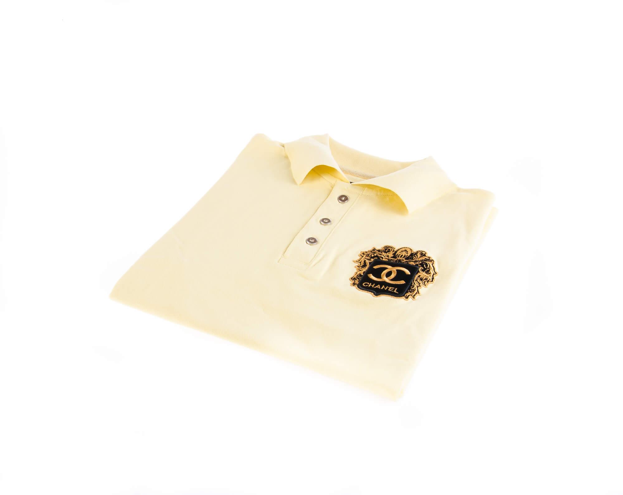 تی شرت یقه دار مردانه طرح PS1067-CHANEL