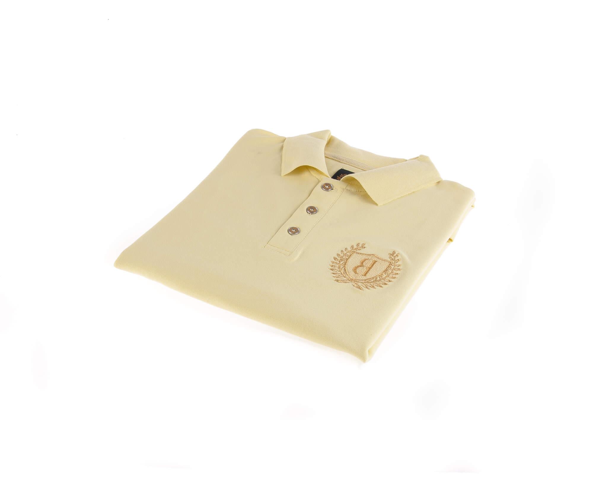 تی شرت یقه دار مردانه ساده-PS1074