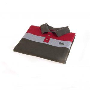 تی شرت یقه دار مردانه طرح PS1054-MD
