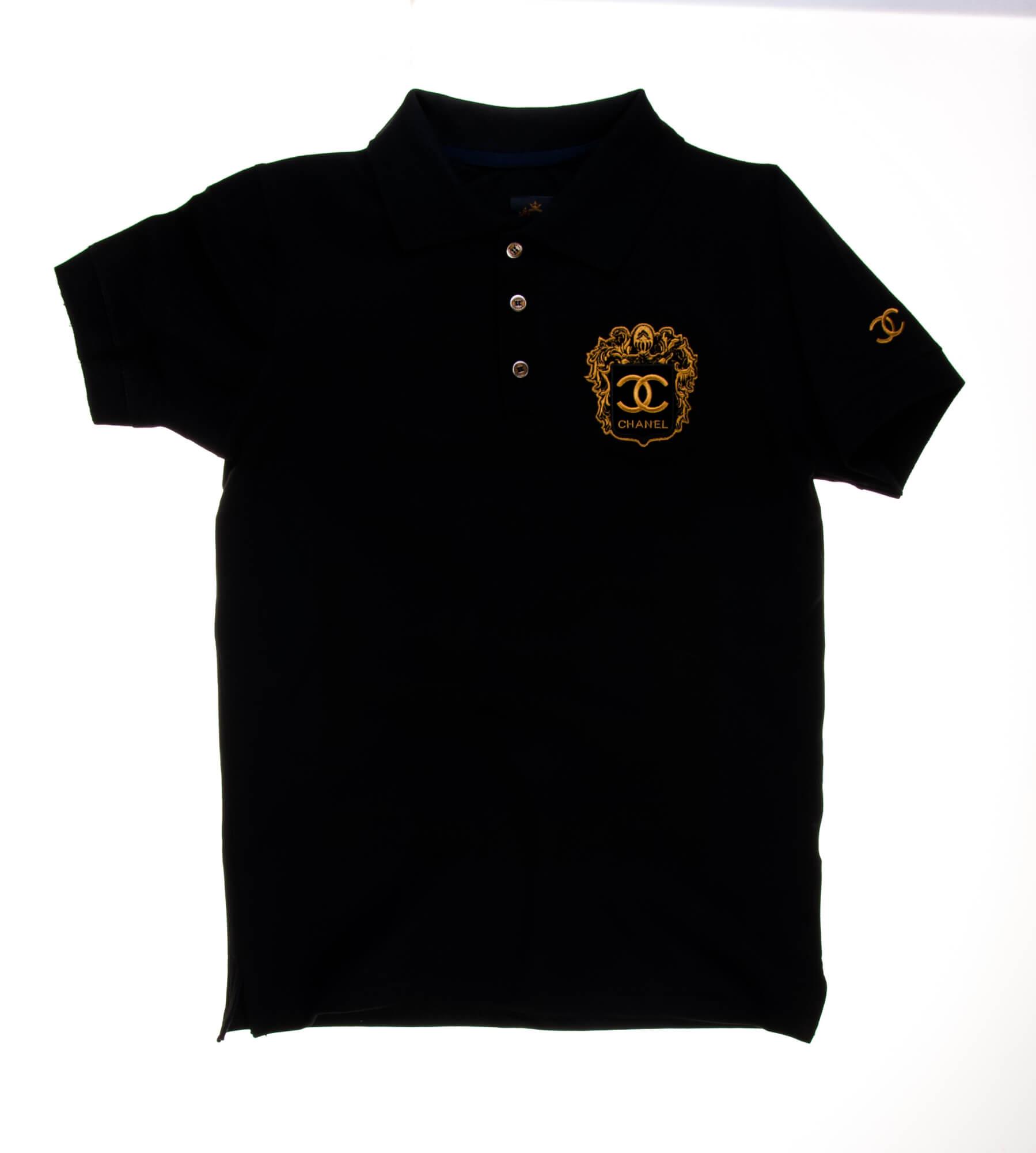 تی شرت یقه دار مردانه طرح PS1064-CHANEL