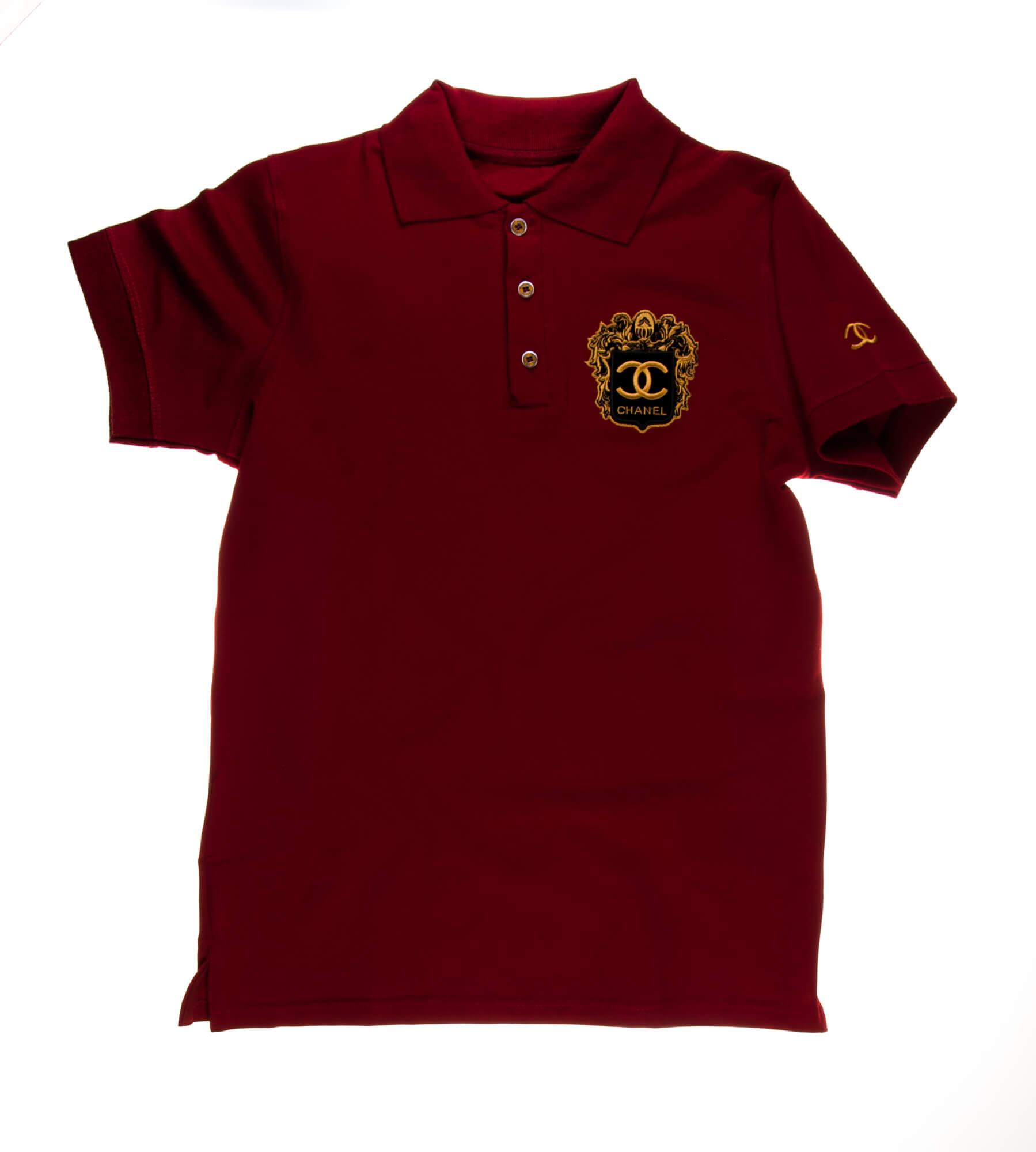 تی شرت یقه دار مردانه طرح PS1063-CHANEL