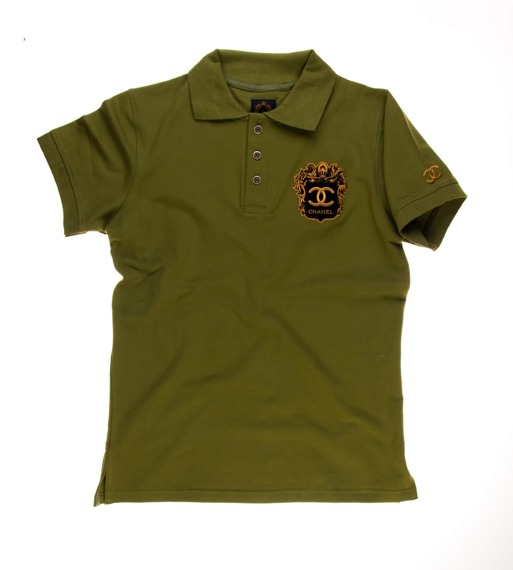 تی شرت یقه دار مردانه طرح PS1060-CHANEL
