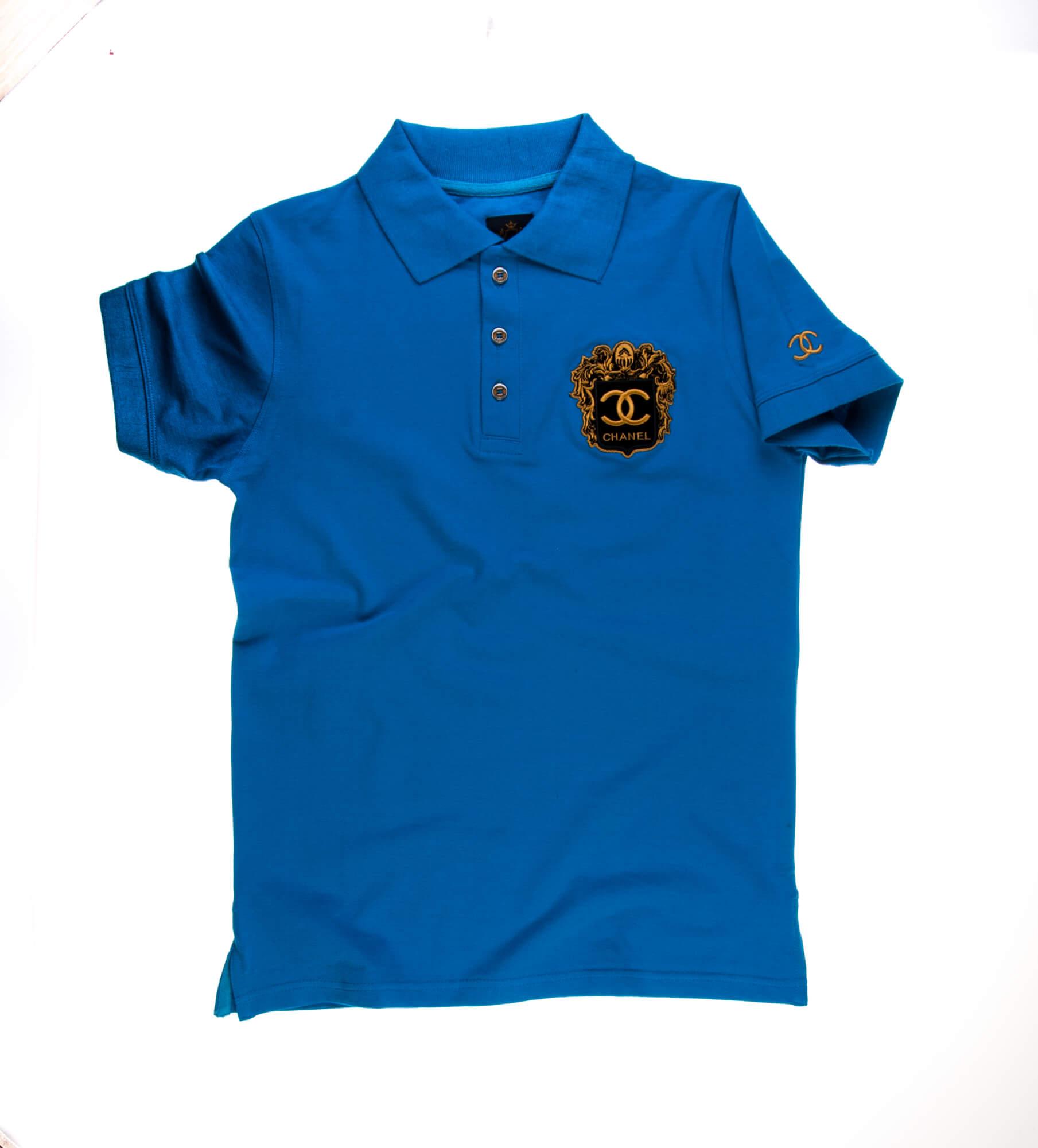 تی شرت یقه دار مردانه طرح PS1062-CHANEL
