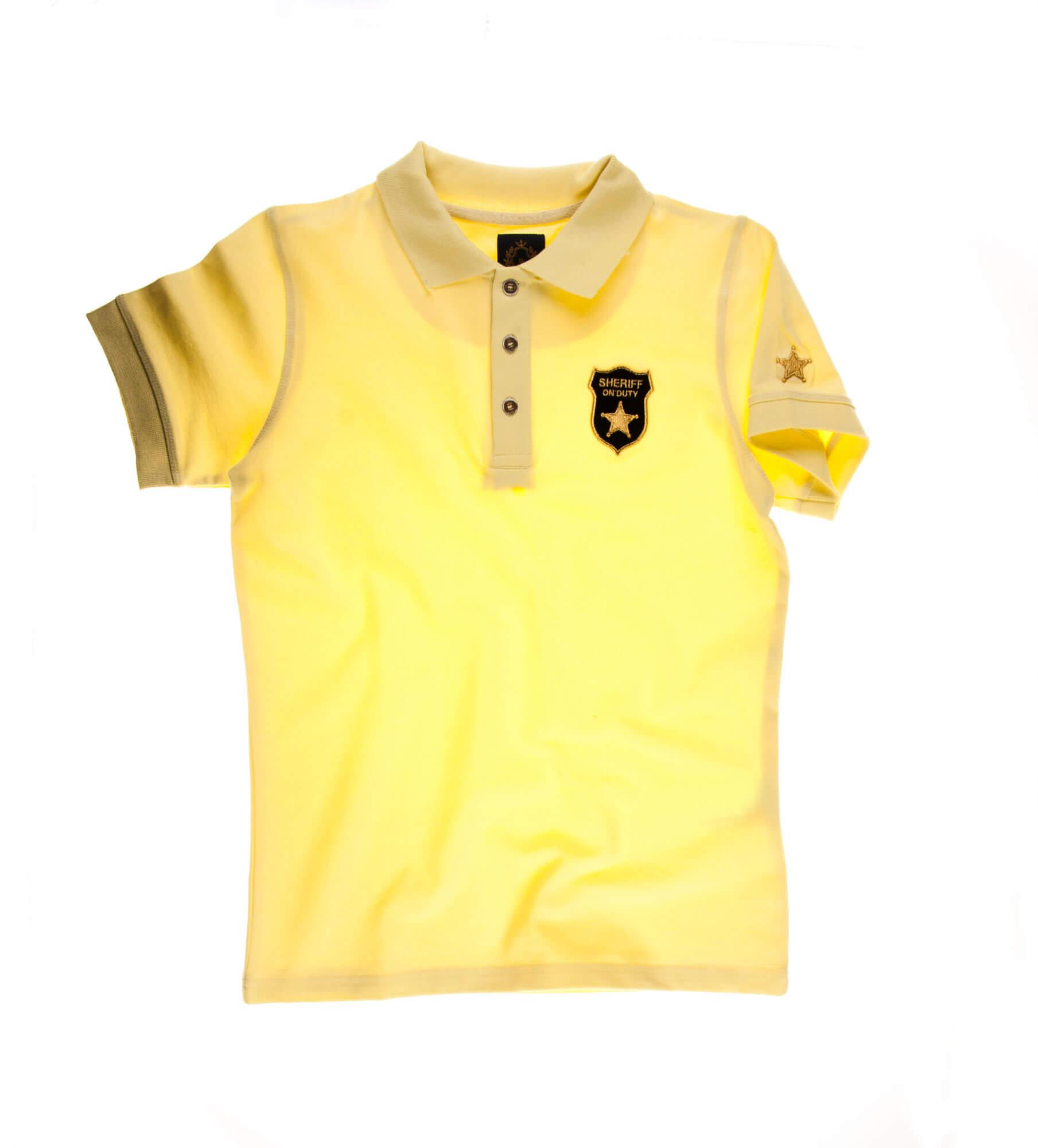 تی شرت یقه دار مردانه طرح مارشال-PS1042