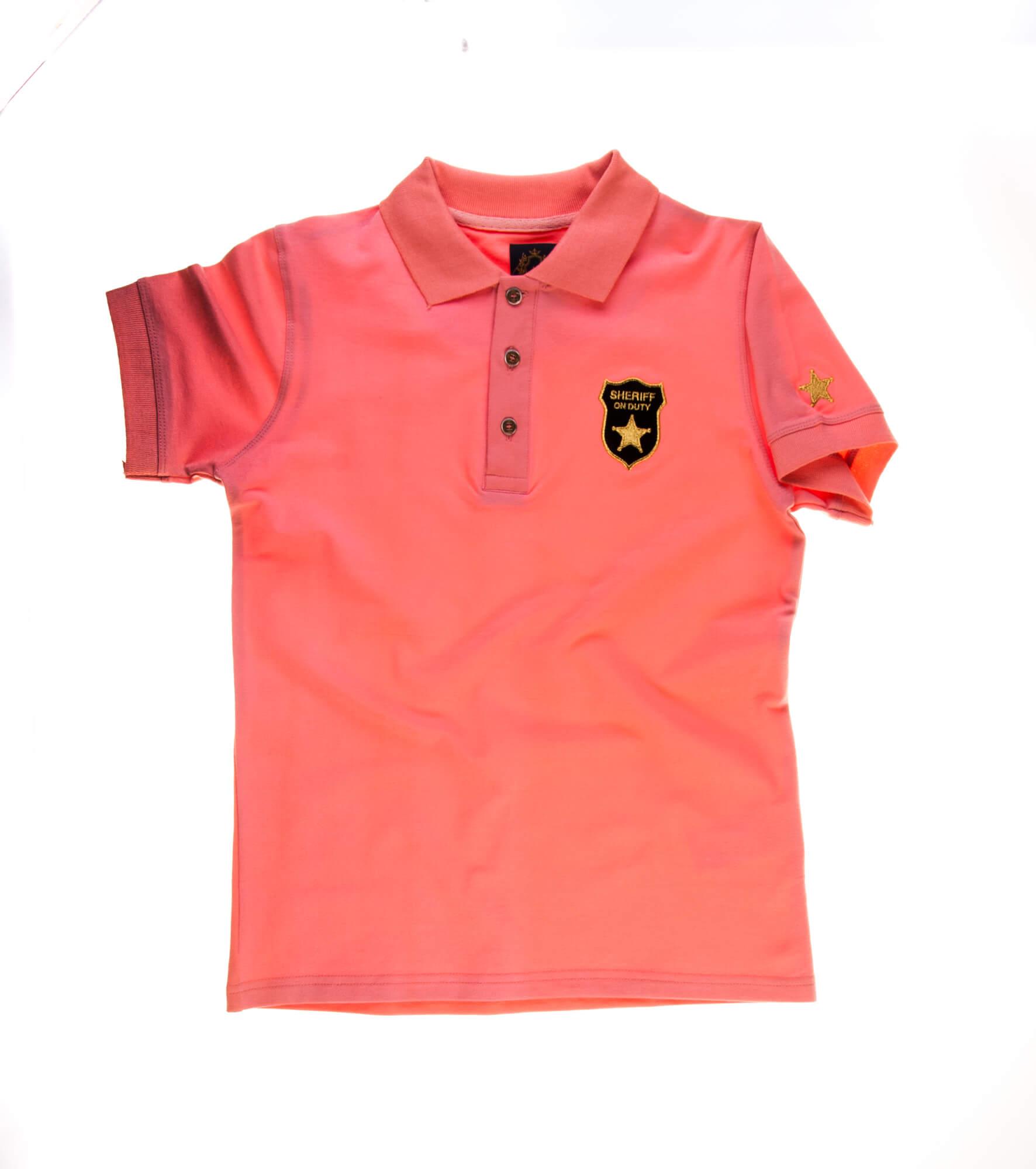 تی شرت یقه دار مردانه طرح مارشال-PS1046