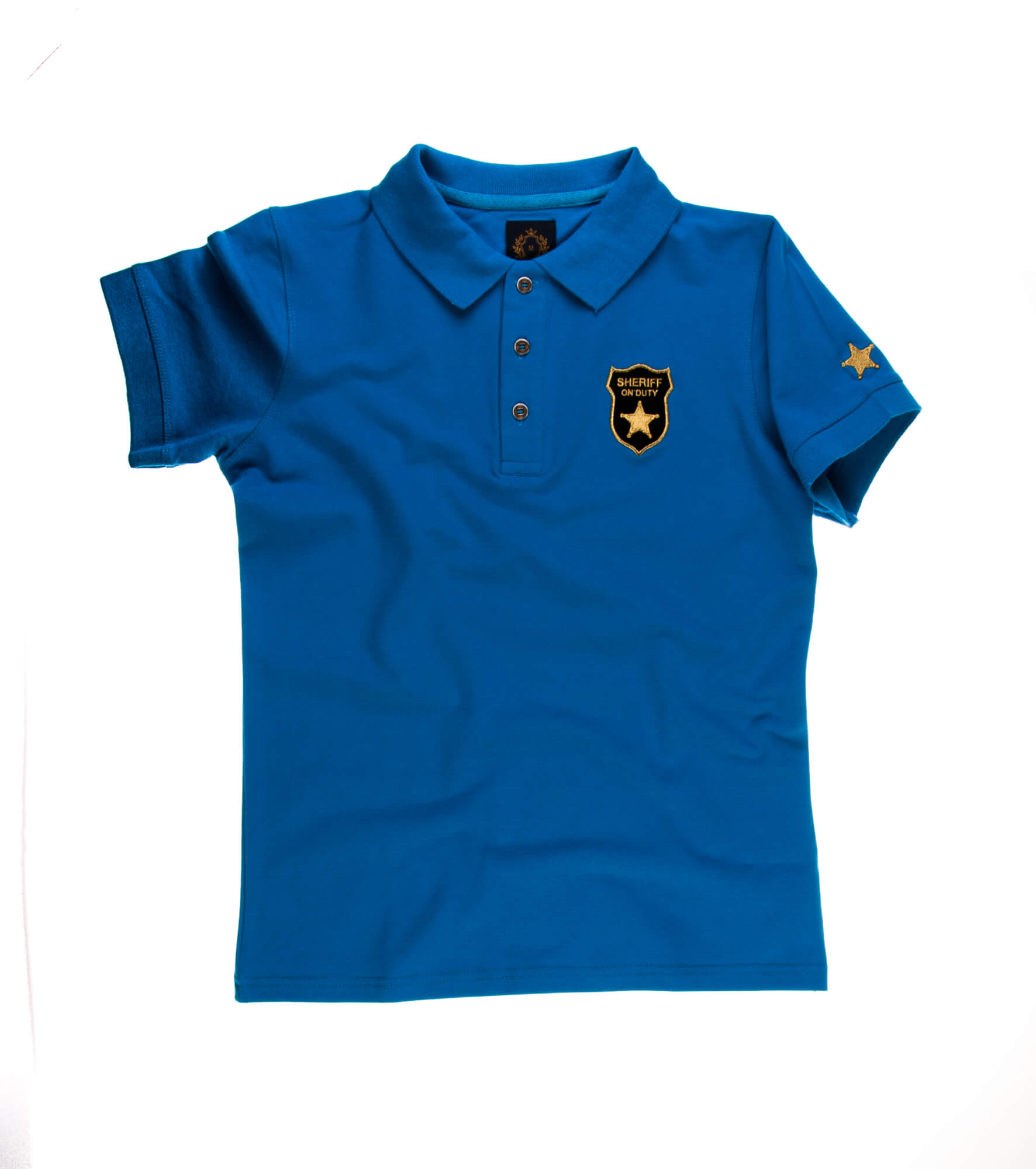 تی شرت یقه دار مردانه طرح مارشال-PS1038