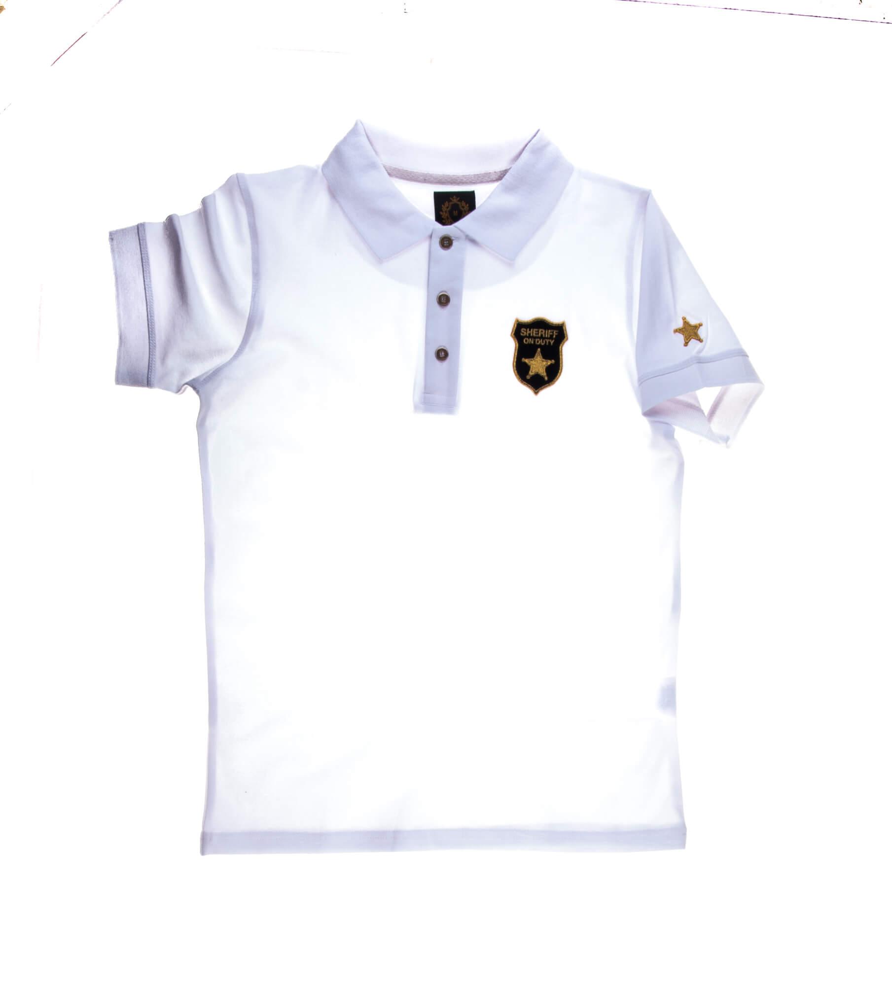 تی شرت یقه دار مردانه طرح مارشال-PS1043