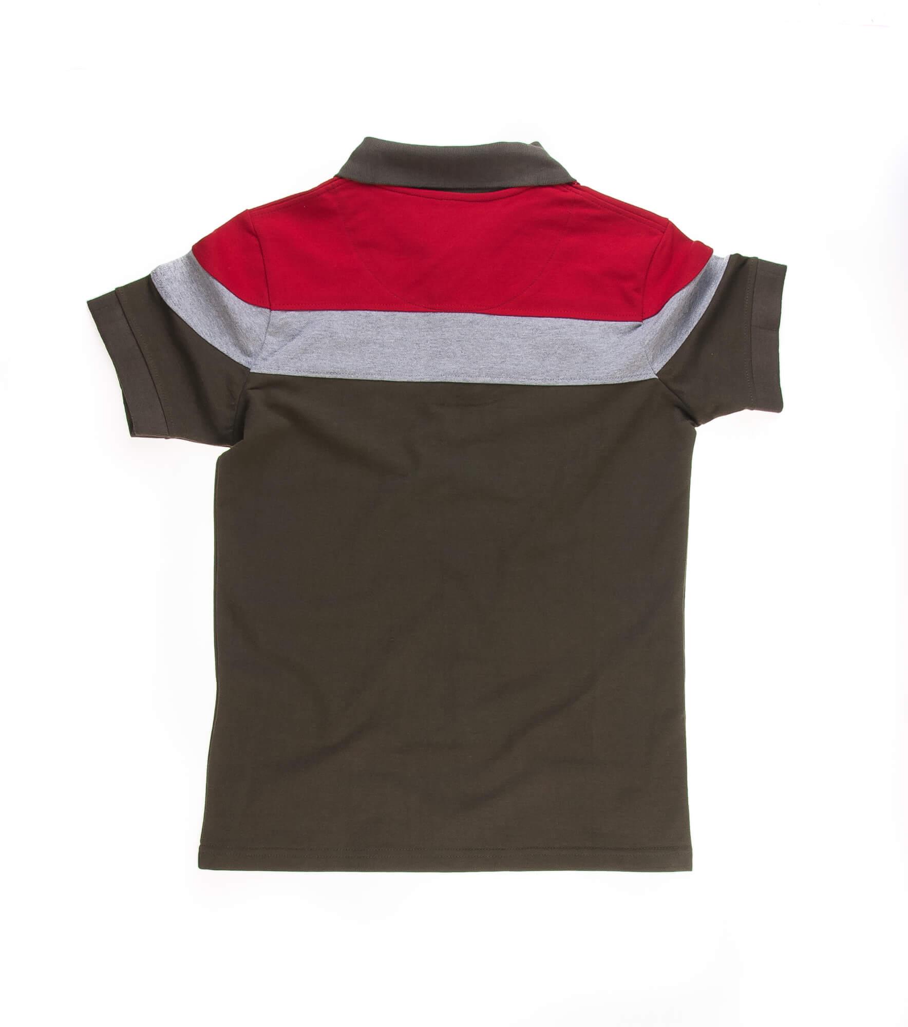 تی شرت یقه دار مردانه طرح PS1076-U.S POLO
