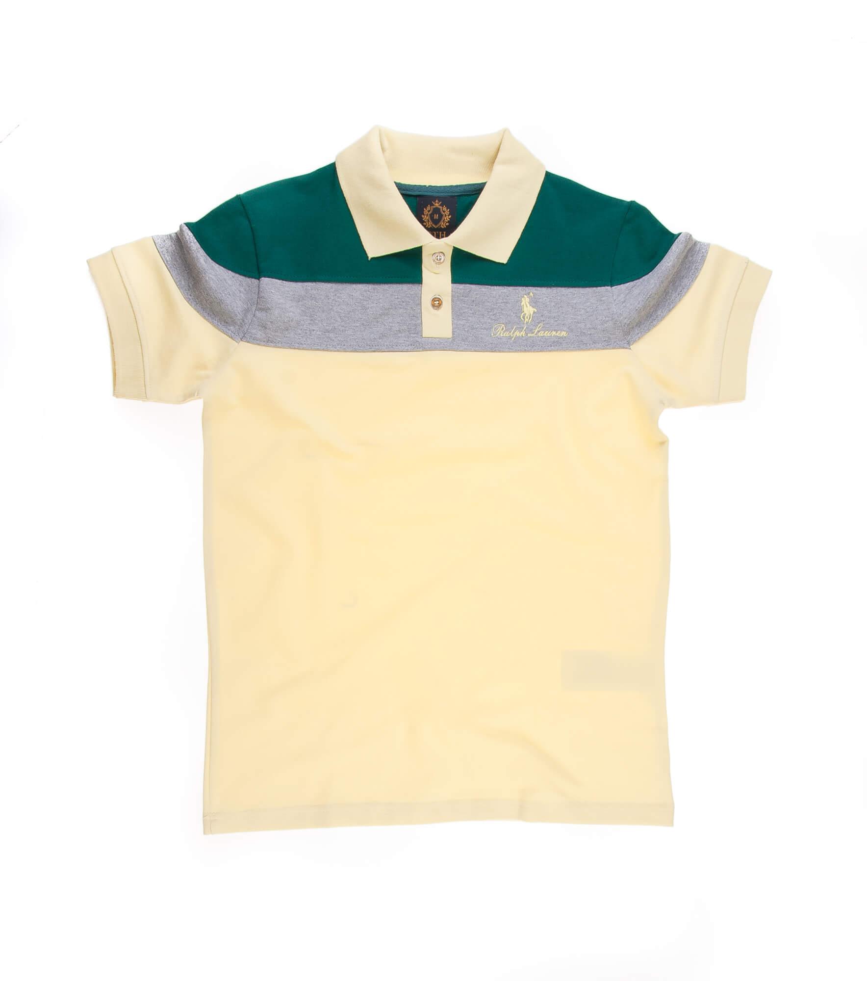 تی شرت یقه دار مردانه طرح PS1071-U.S POLO