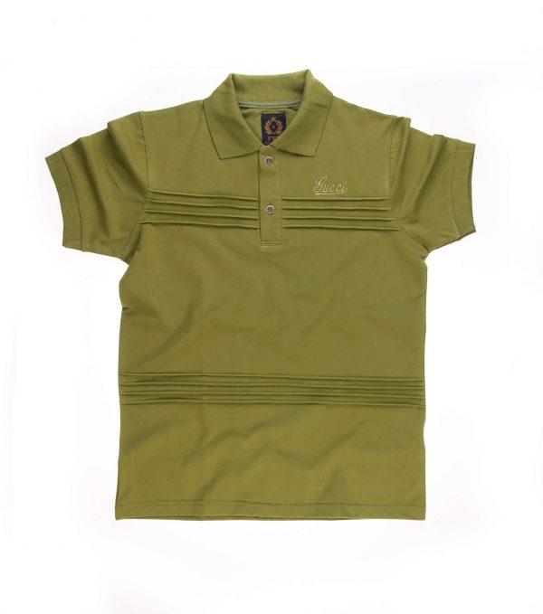 تی شرت یقه دار مردانه طرح PS1005- GUCCI