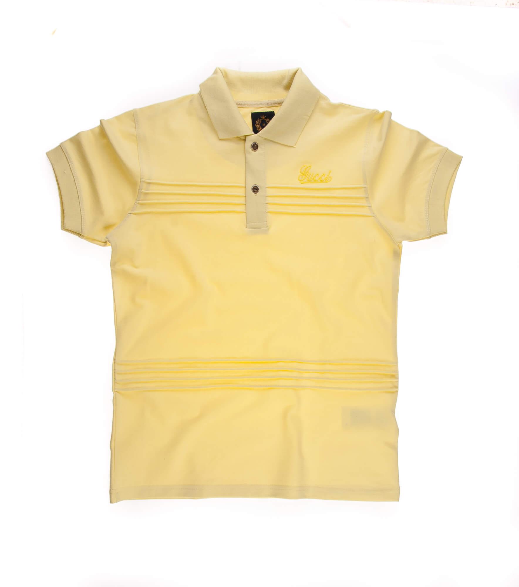 تی شرت یقه دار مردانه طرح PS1003 – GUCCI