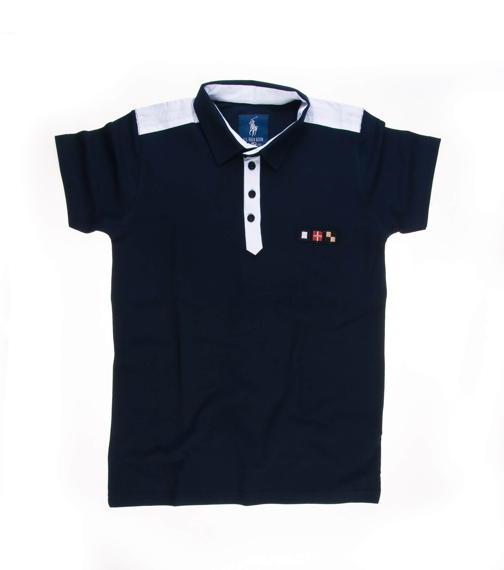 تی شرت یقه دار مردانه ساده-PS1081