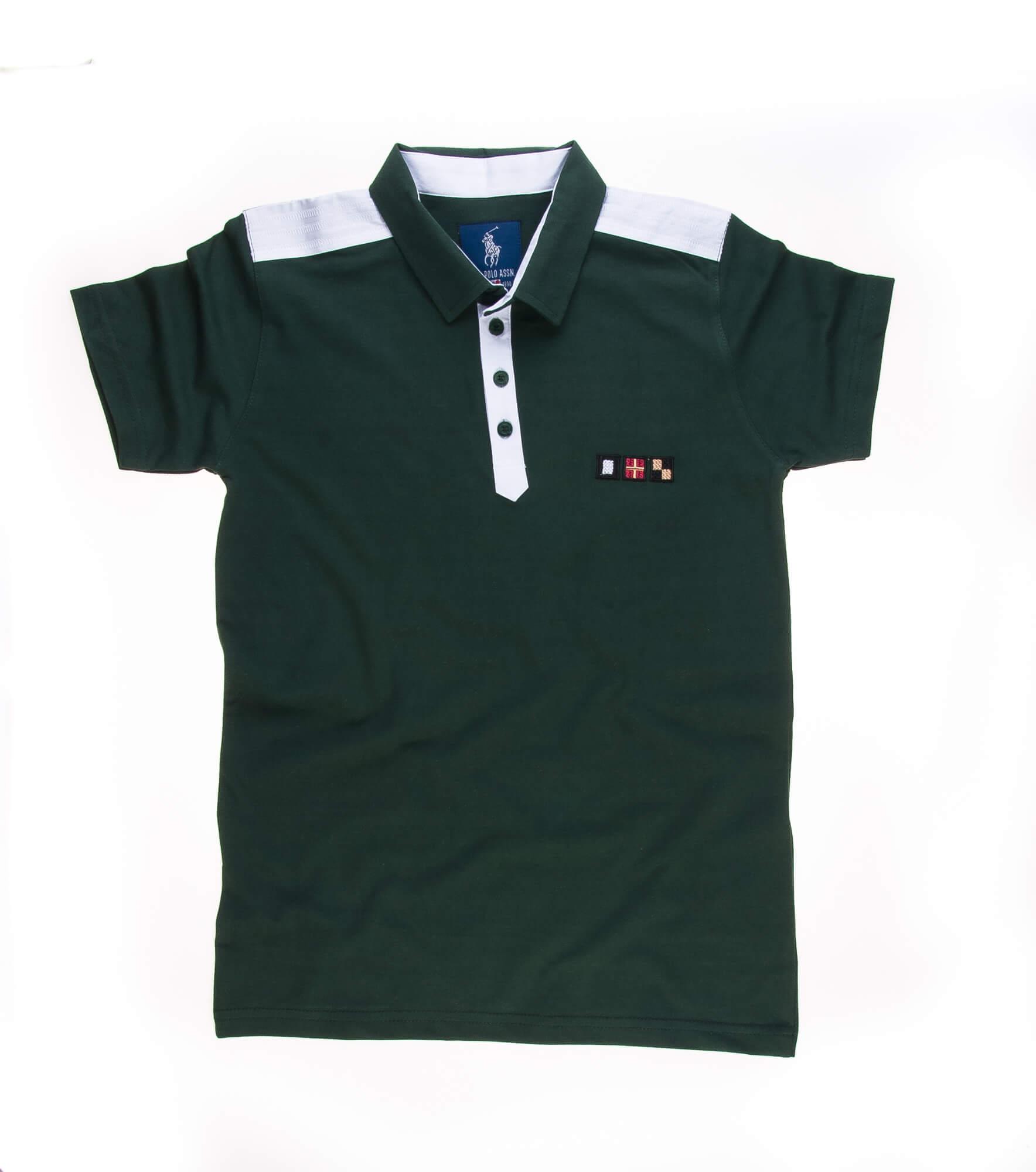 تی شرت یقه دار مردانه ساده-PS1080