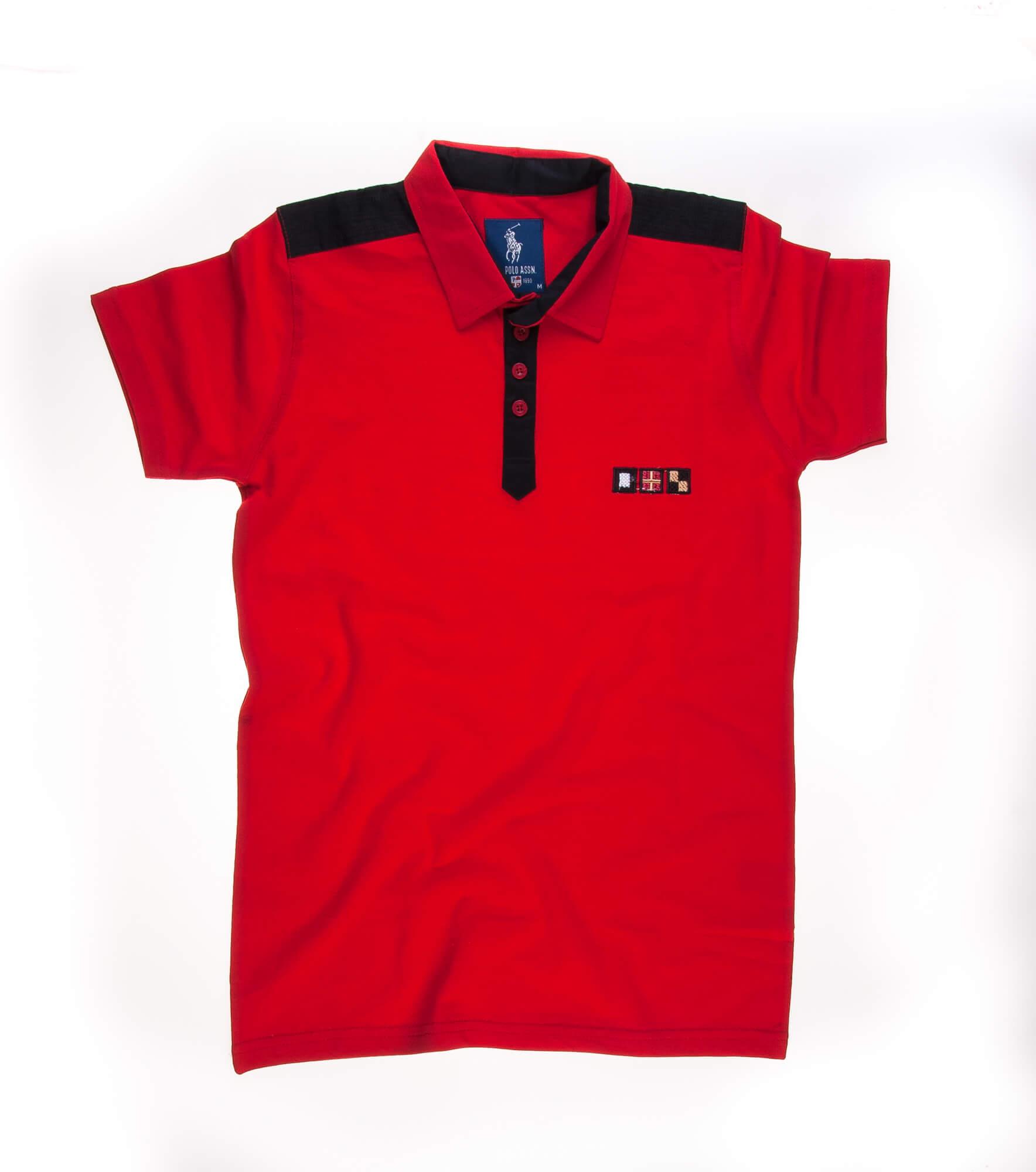 تی شرت یقه دار مردانه ساده-PS1079