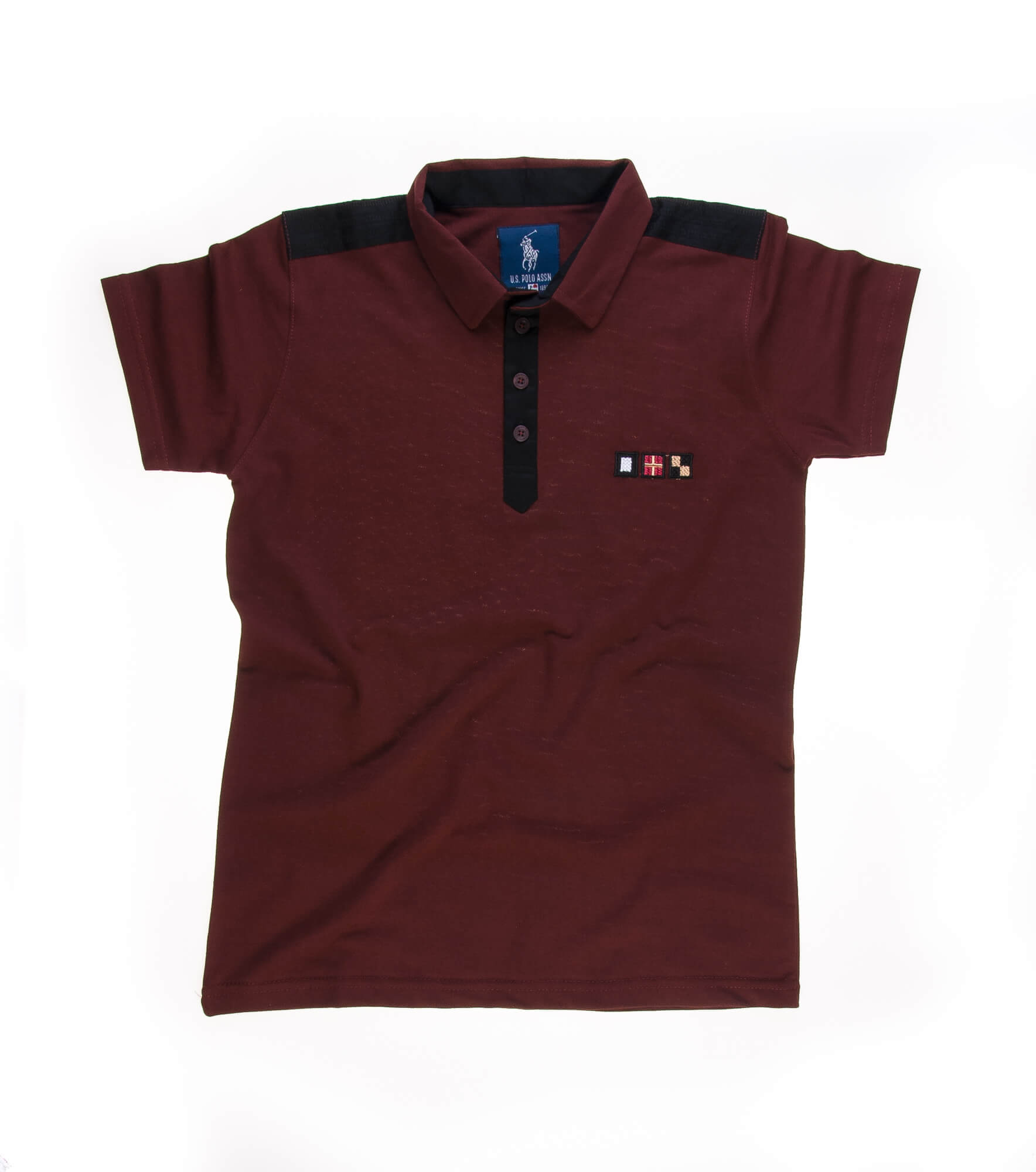 تی شرت یقه دار مردانه ساده-PS1085