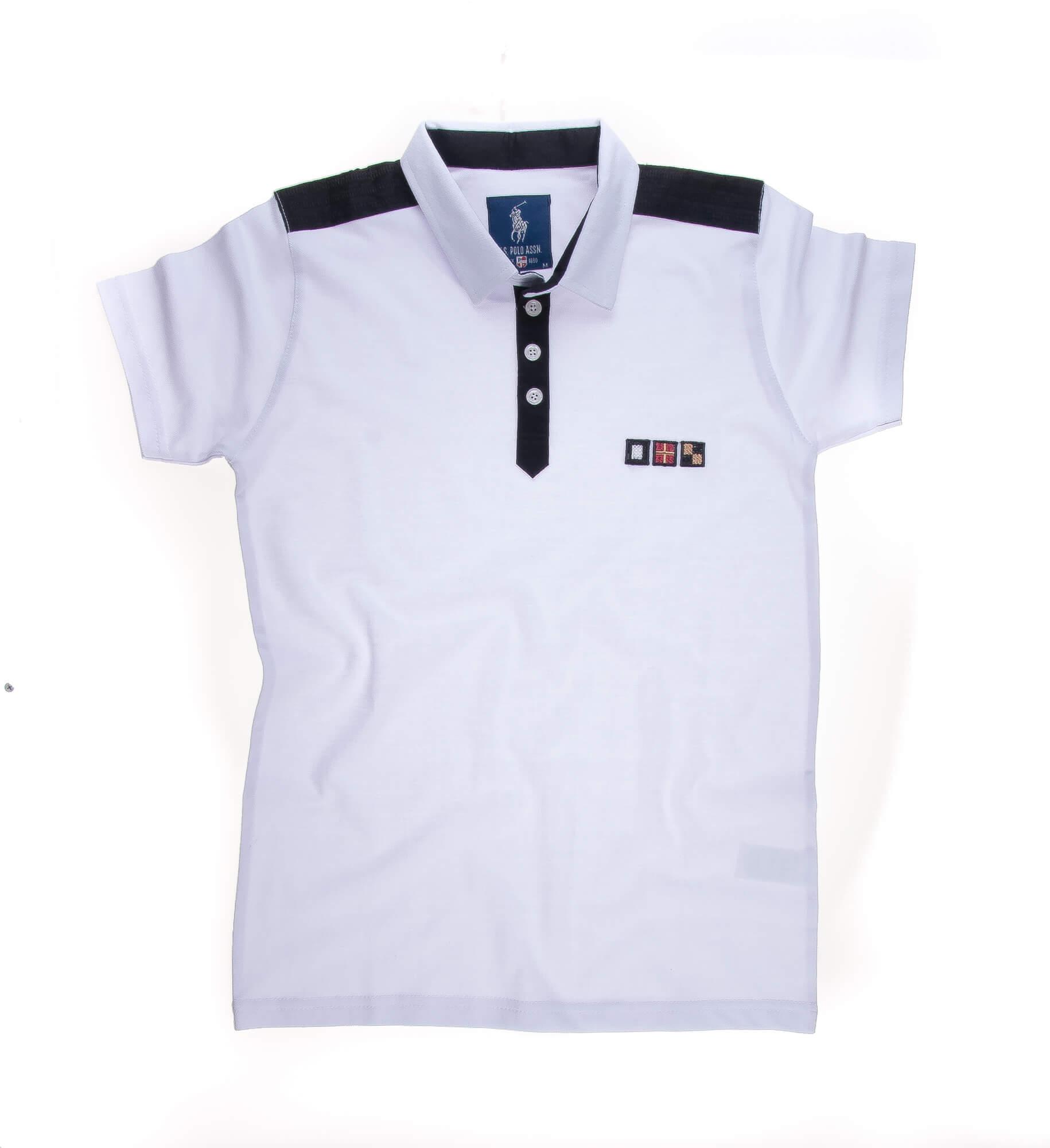 تی شرت یقه دار مردانه ساده-PS1082
