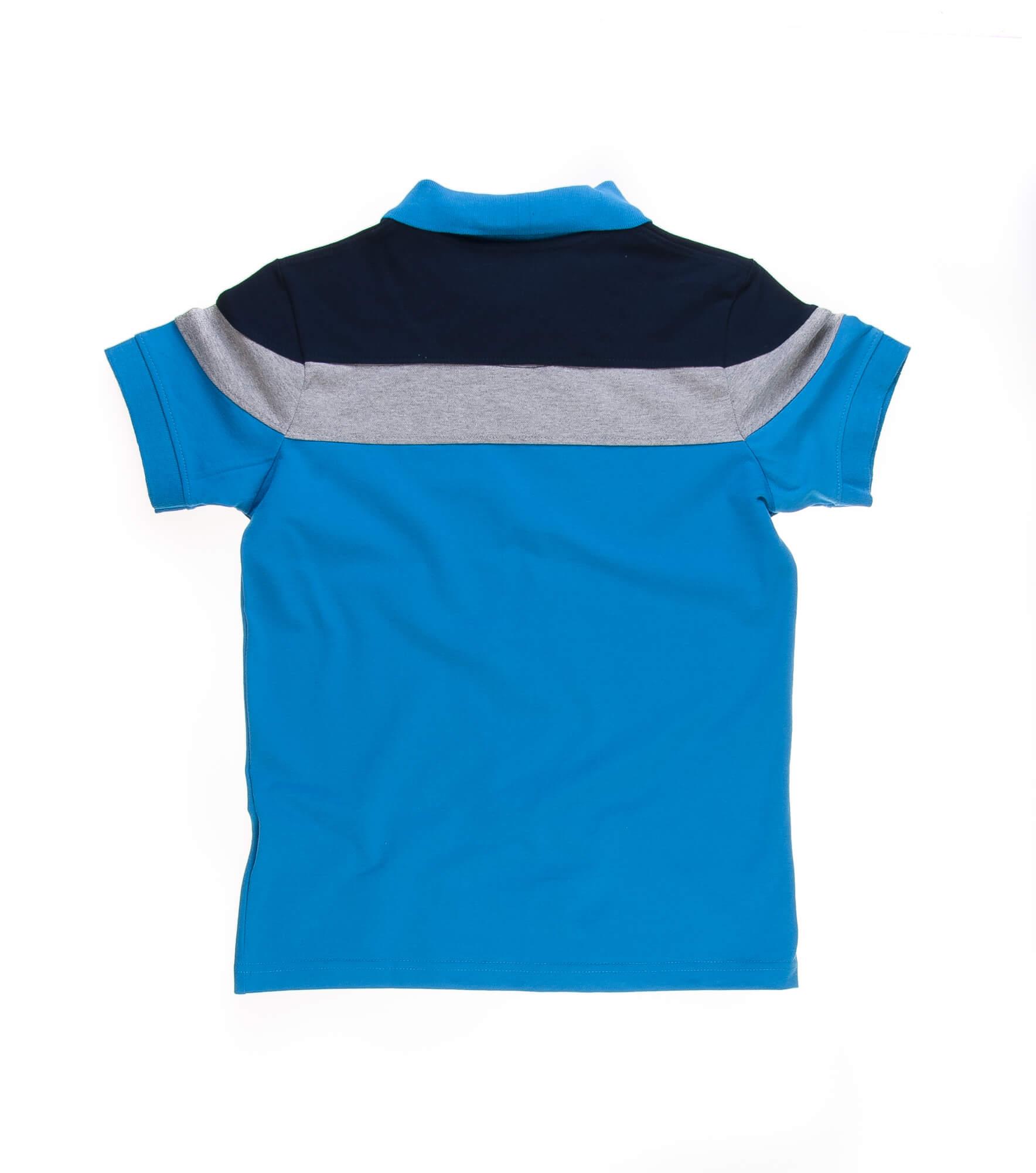تی شرت یقه دار مردانه طرح PS1073-U.S POLO
