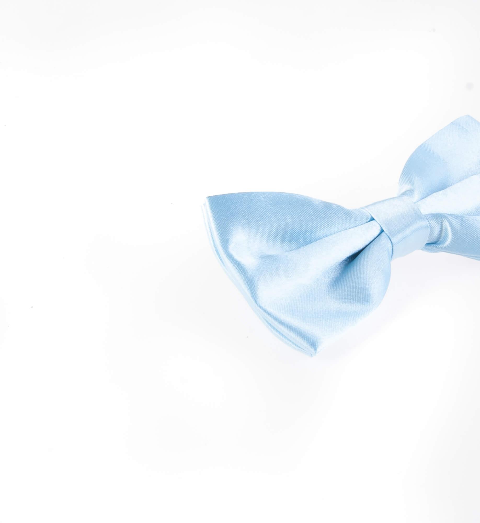 پاپیون ساده مردانه ساتن رنگ آبی BT1070