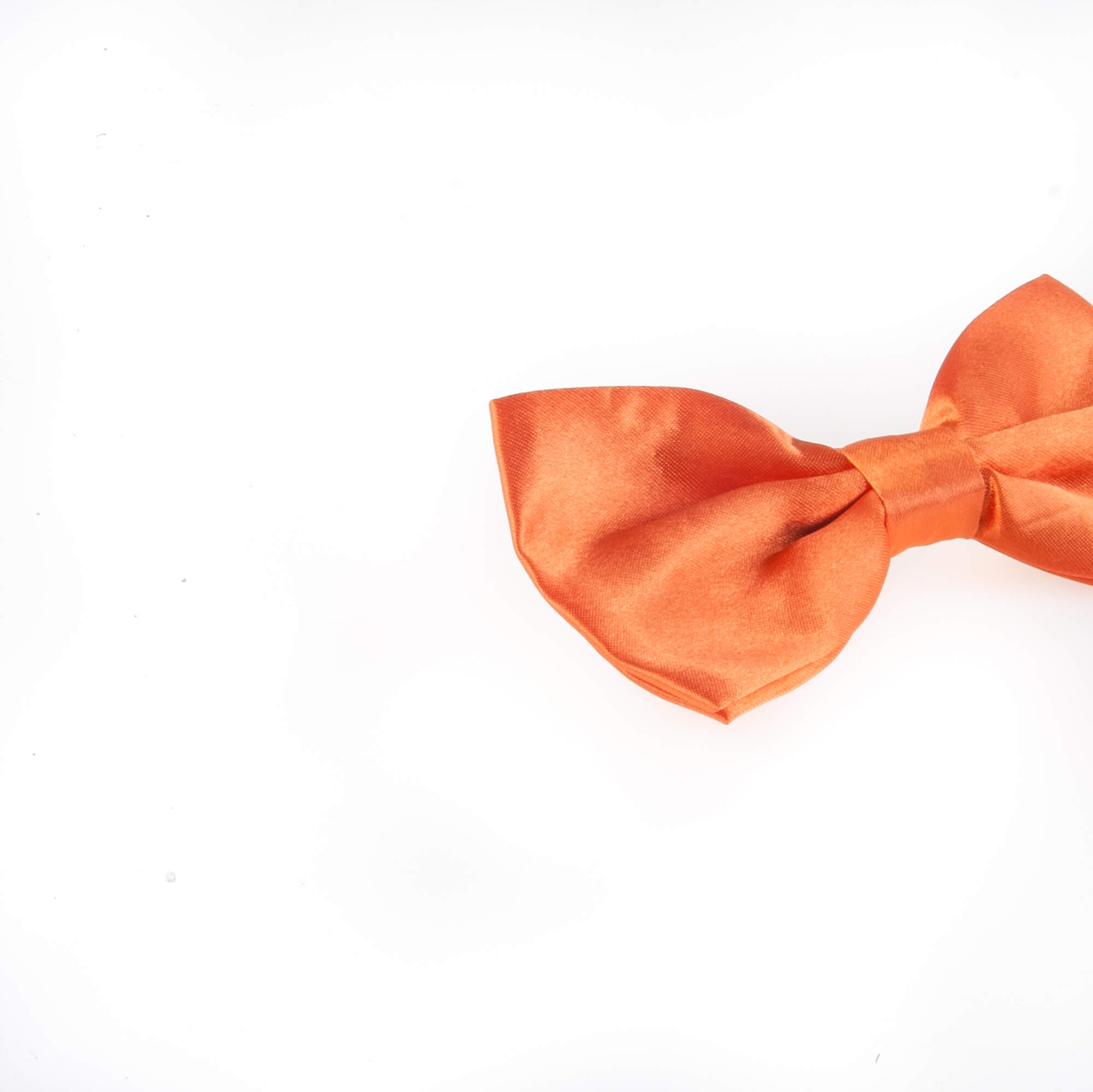 پاپیون ساده مردانه ساتن رنگ نارنجی BT1062