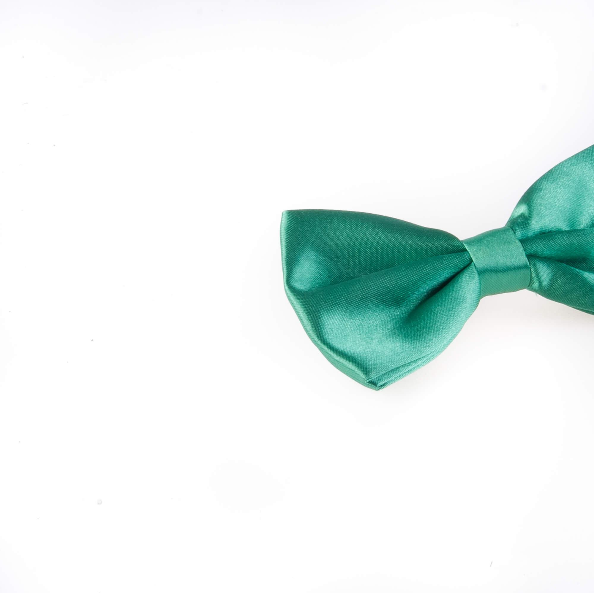 پاپیون ساده مردانه ساتن رنگ سبز BT1057