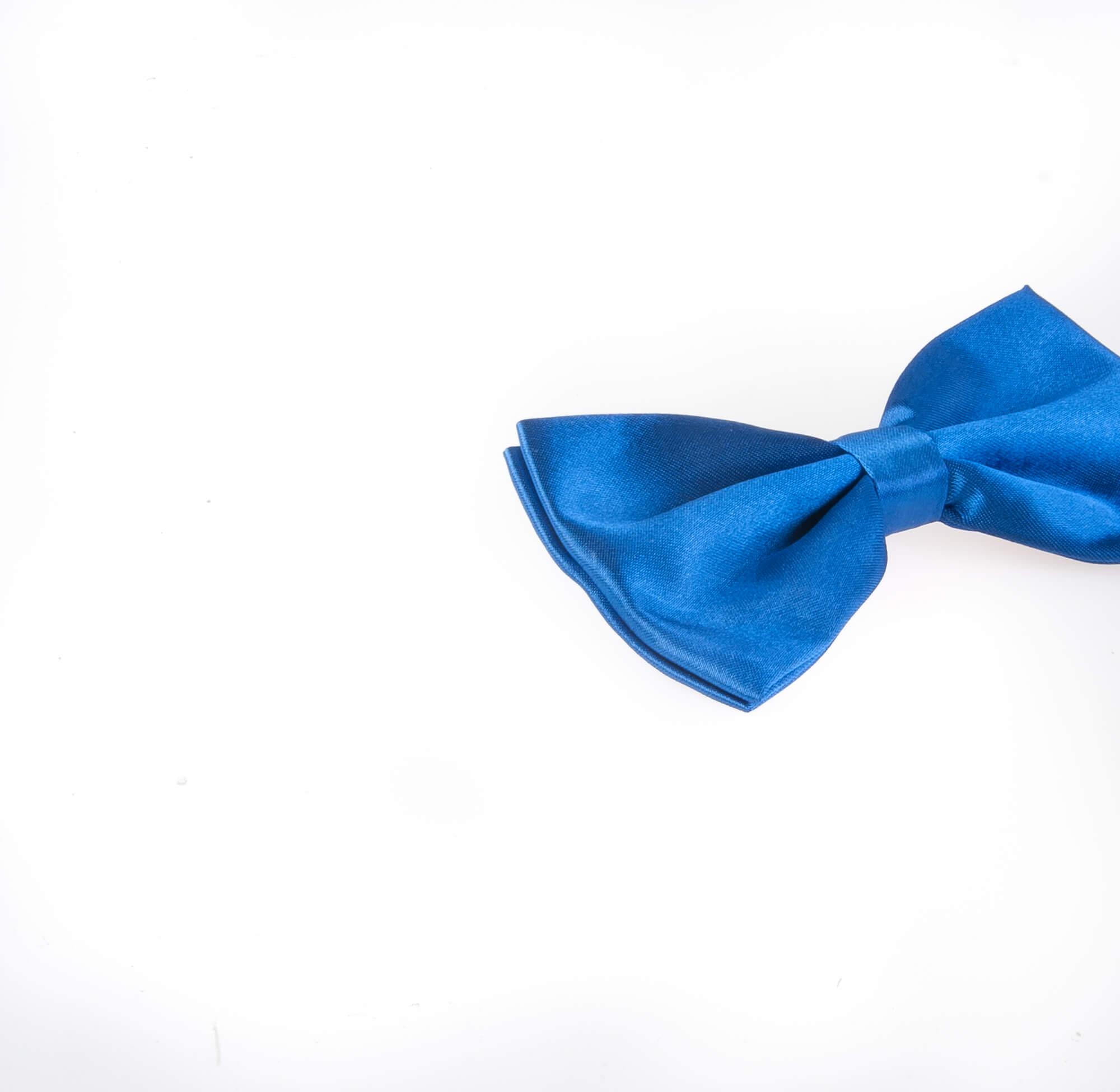 پاپیون ساده مردانه ساتن رنگ آبی BT1060