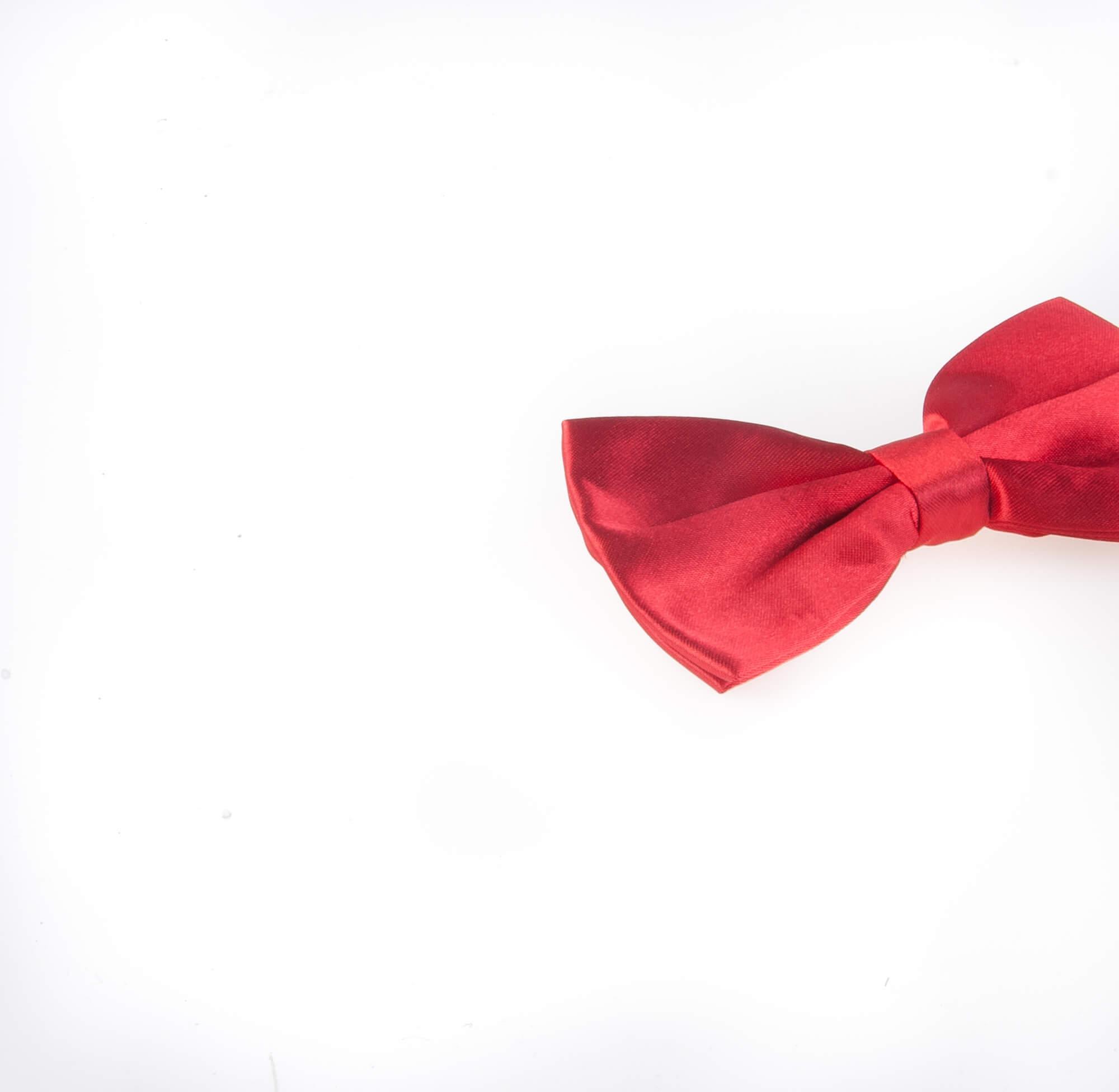 پاپیون ساده مردانه ساتن رنگ قرمز BT1058