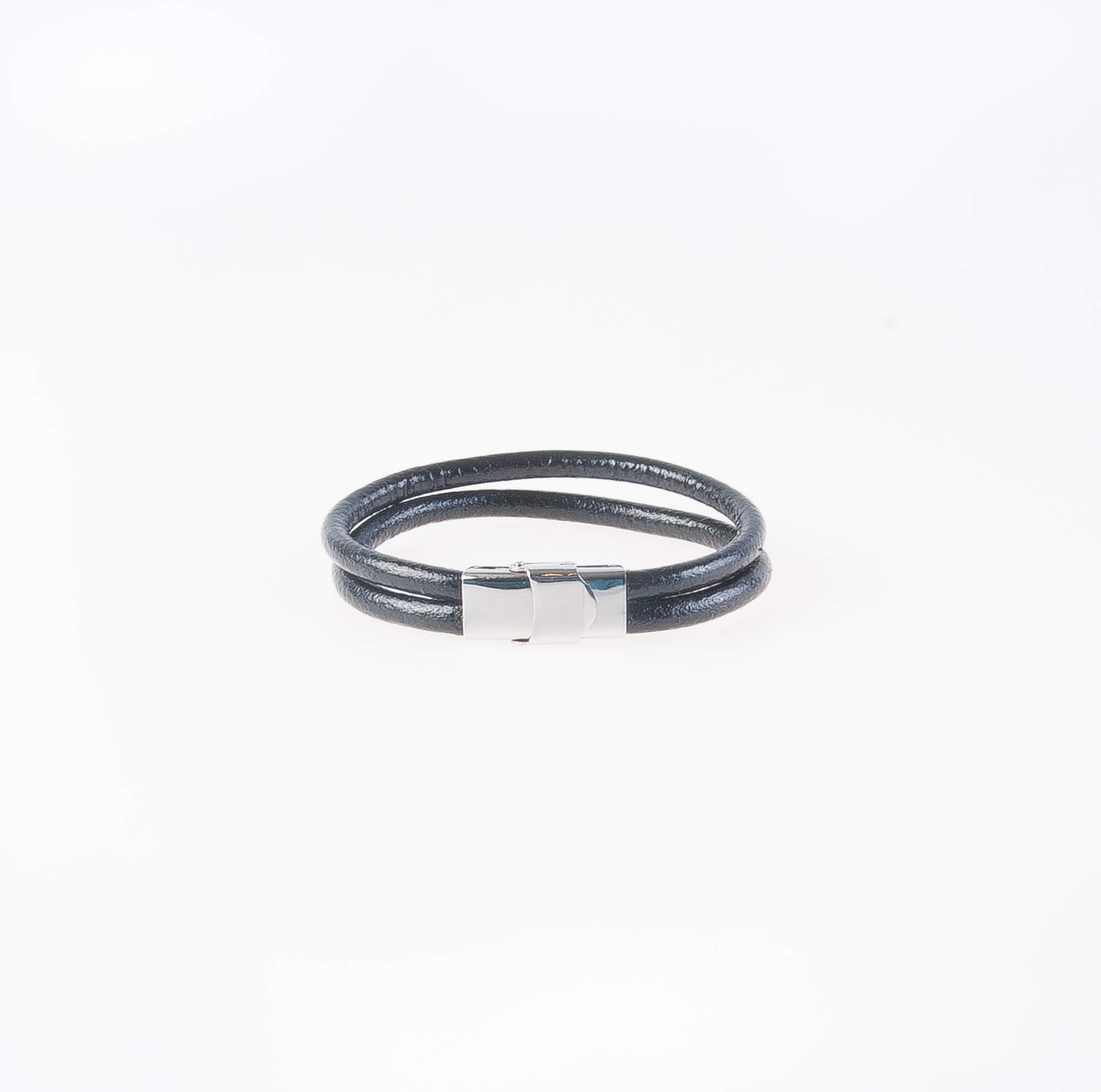 دستبند چرمی فلزی مردانه MM1005