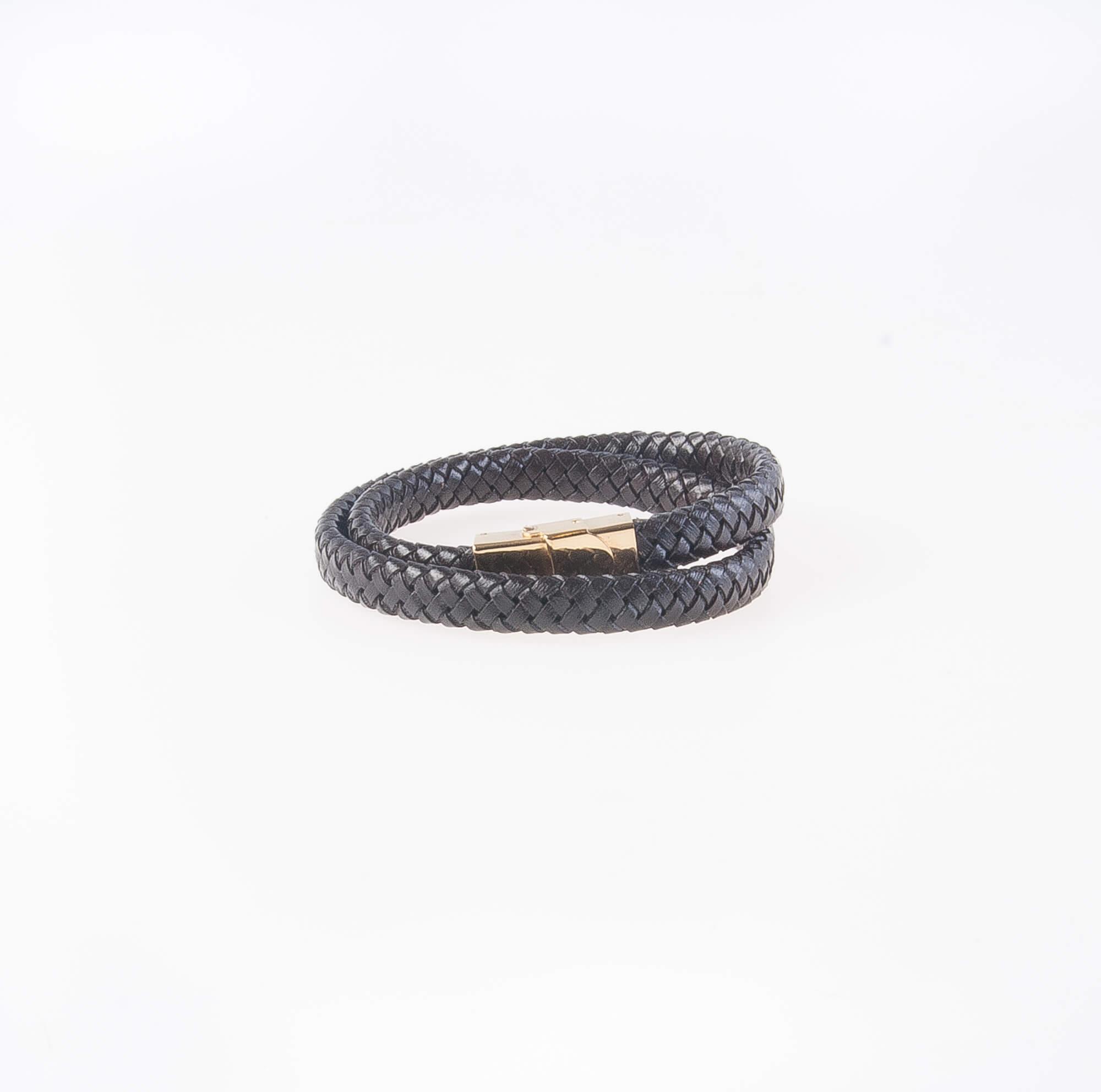 دستبند چرمی فلزی مردانه MM1006