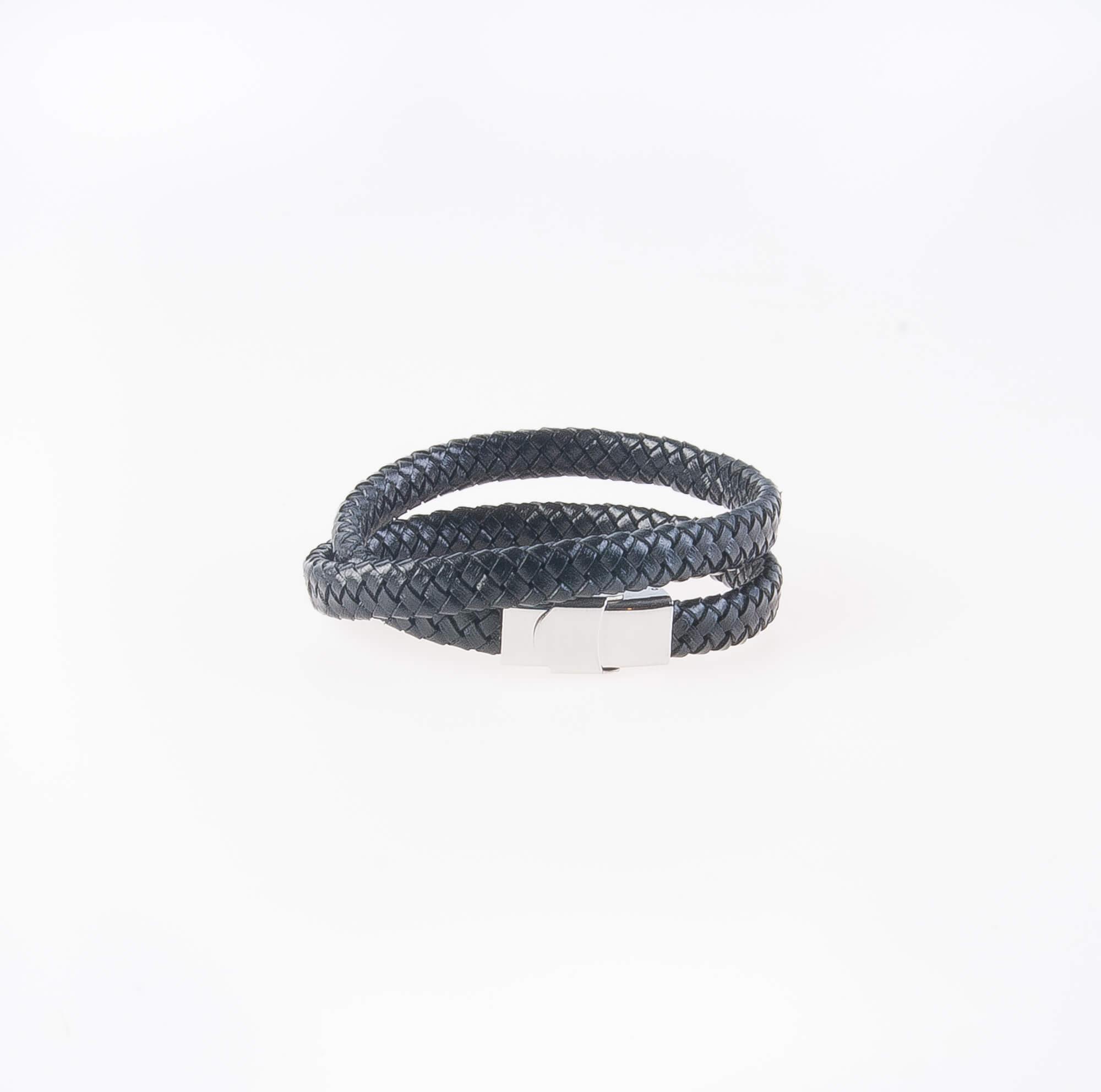 دستبند چرمی فلزی مردانه MM1007