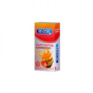 کاندوم بست لایف مدل میوه ای خاردار-Fruity Dotted- کدco1031