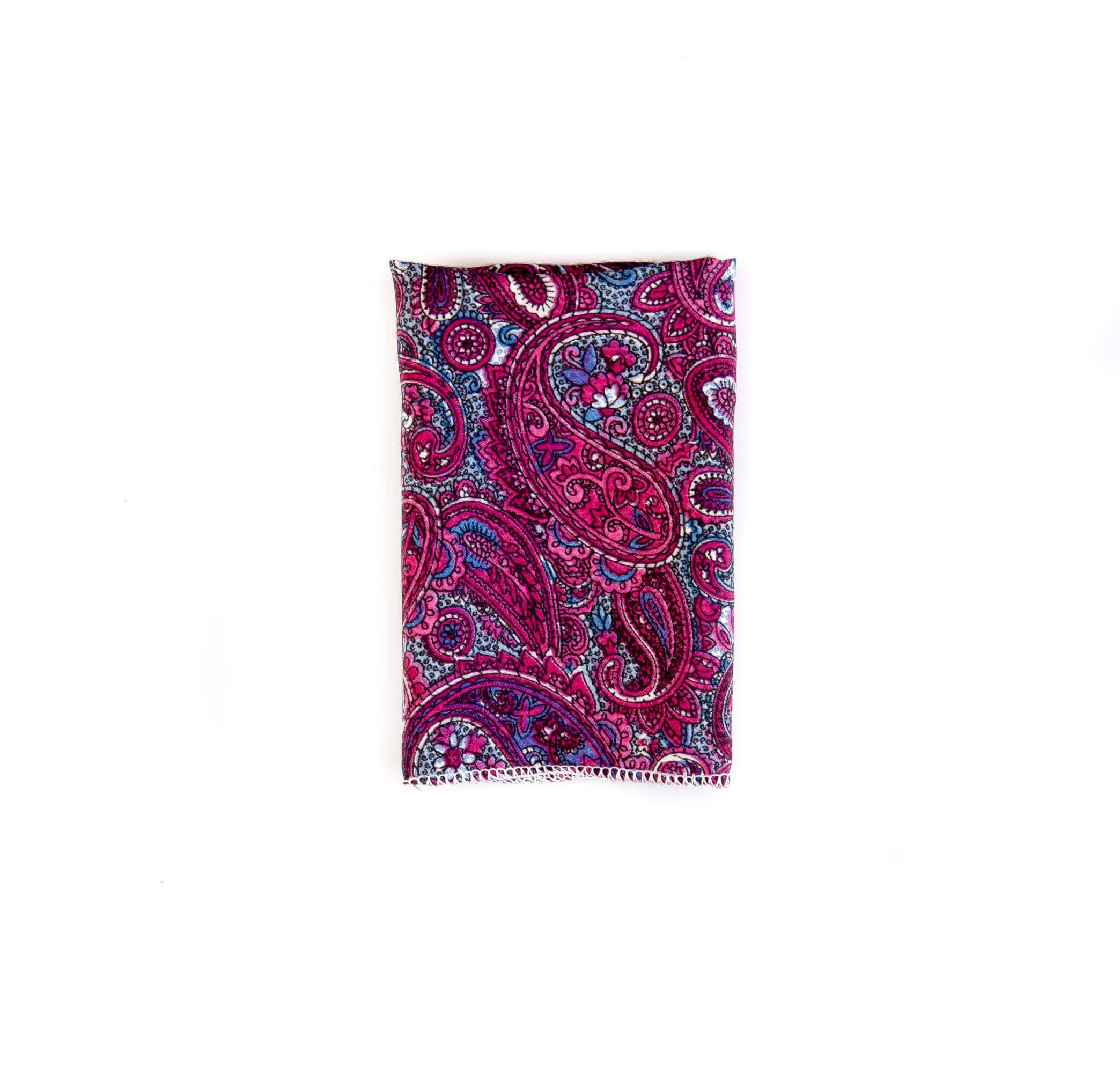 دستمال جیب طرح بته جقه رنگارنگ کد PS1036
