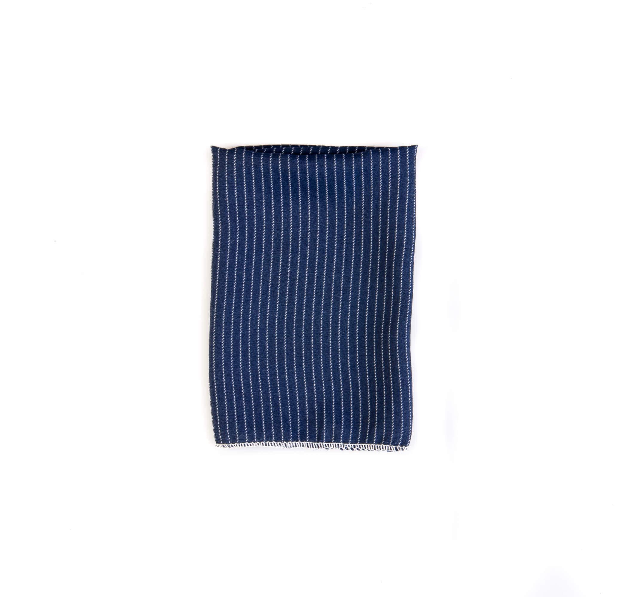 دستمال جیب طرح راه راه رنگ سورمه ای کد PS1067